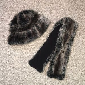 Fur hat and Scarf from Dillards